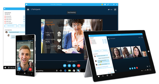 Hosted Skype for Business tablets