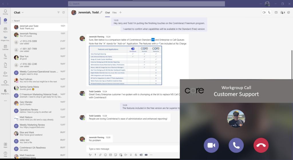 Engage with Customer Screenshot